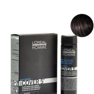 Мужской окрашивающий гель для седых волос L'Oreal Professionnel Homme Cover 5 №3 Темный шатен