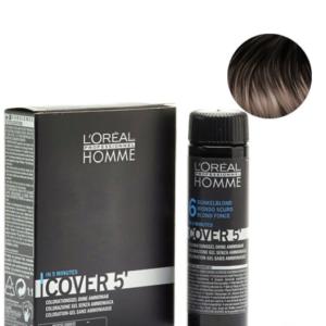 Мужской окрашивающий гель для седых волос L'Oreal Professionnel Homme Cover 5 №4 Шатен