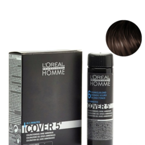 Мужской окрашивающий гель для седых волос L'Oreal Professionnel Homme Cover 5 №5 Светлый шатен