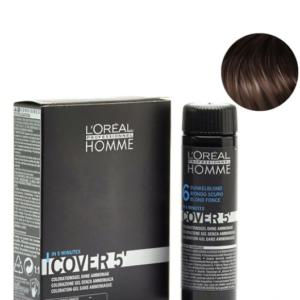 Мужской окрашивающий гель для седых волос L'Oreal Professionnel Homme Cover 5 №6 Темный блондин